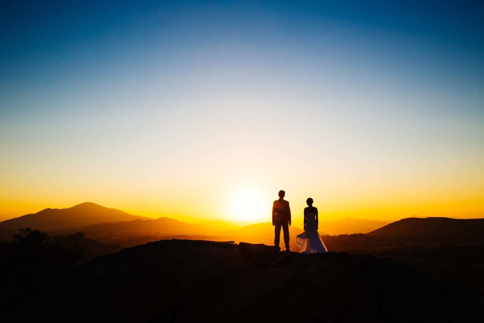 Wedding under the California Sunset at Montaña Cielo, Jamul, CA outside of San Diego