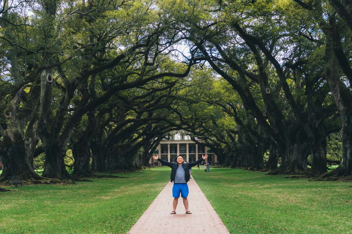 Oak Alley Plantation right outside of New Orleans!