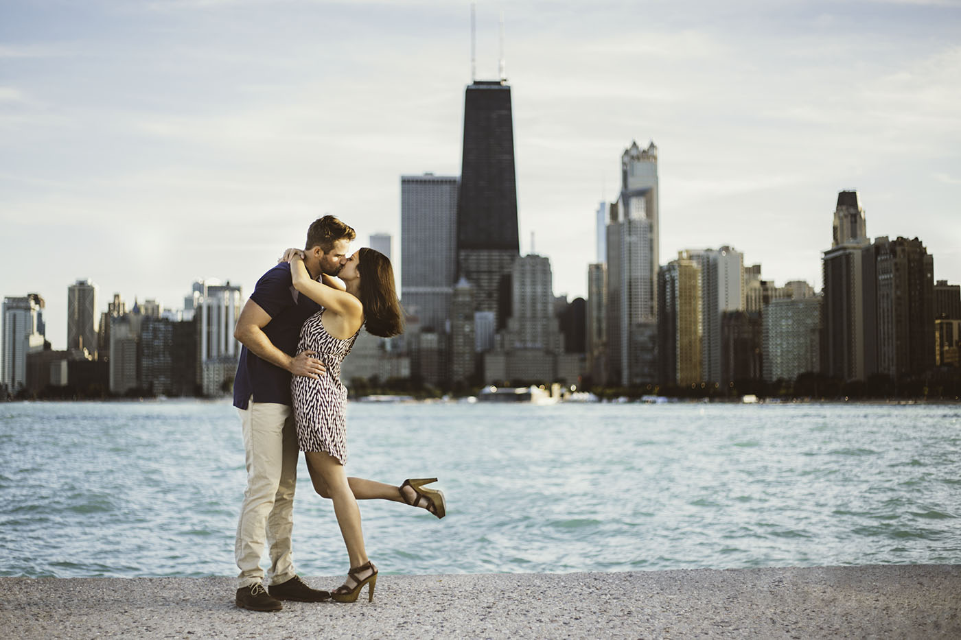 tina-and-drew-at-north-avenue-beach-in-chicago