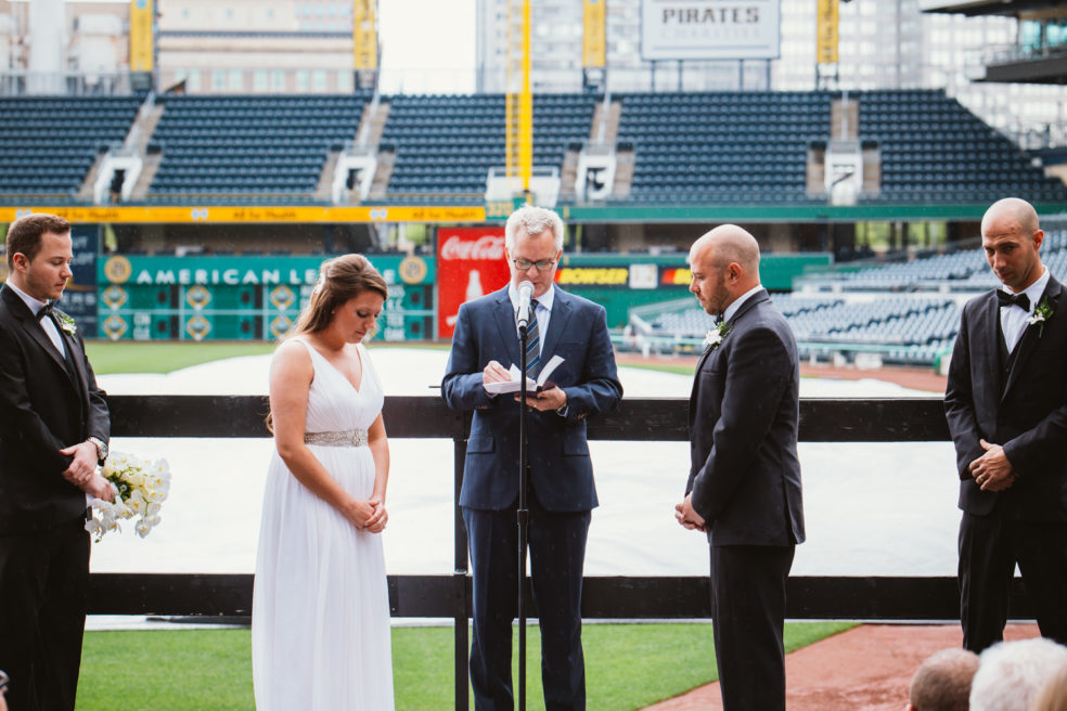 Wedding photos at PNC Park in North Shore, Pittsburgh