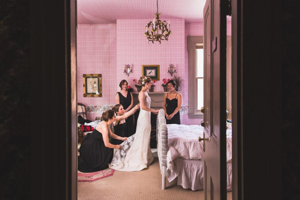 Wedding preparation photos at Morning Glory Inn Southside Pittsburgh