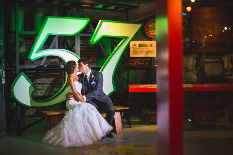 Wedding photos at Heinz History Center in downtown Pittsburgh
