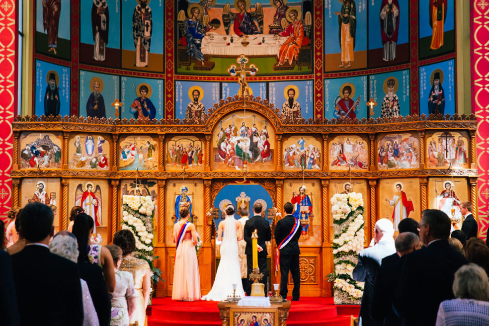 Wedding ceremony photos at Holy Trinity Serbian Orthodox Cathedral