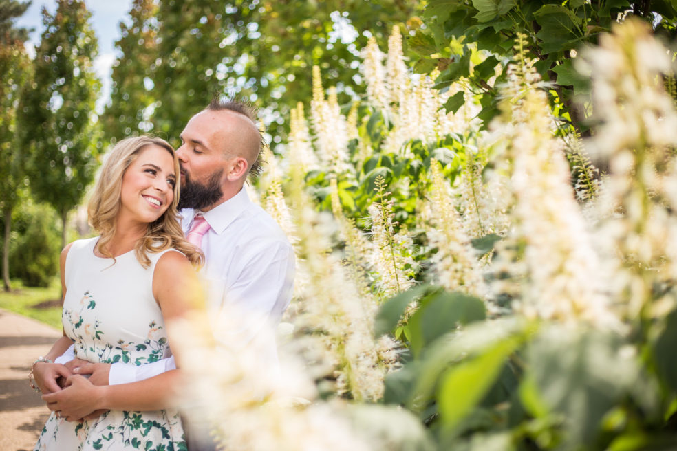Engagement photos at the Phipps Conservatory's Outdoor Garden