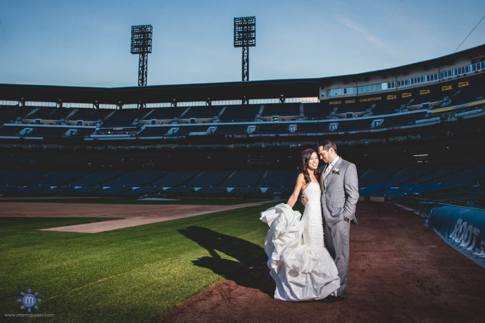 Wedding reception photos at the Lexus Club and PNC Park