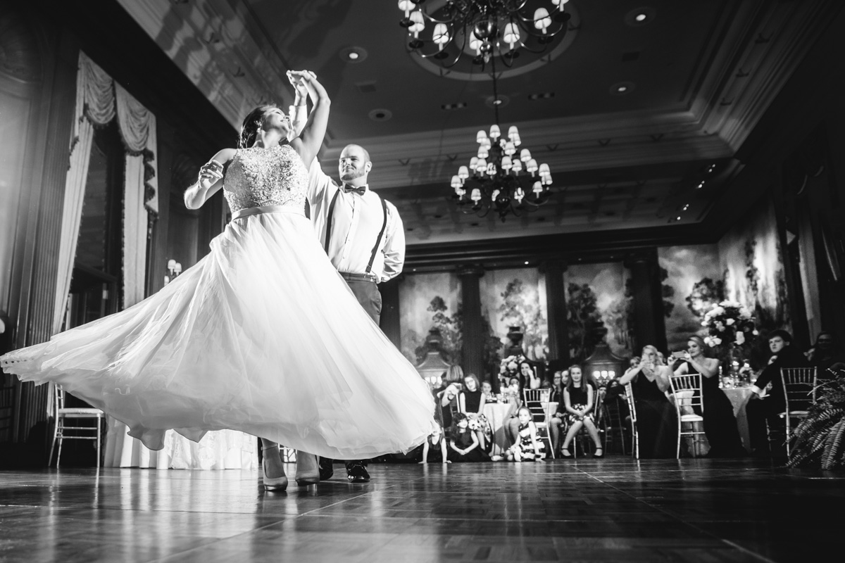 Bride And Grooms First Dance At Their Wedding Reception At Duquesne